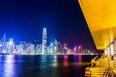 Hong kong gece — Stok fotoğraf