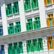 Building with colorful window — Stock Photo #40441653