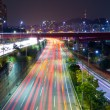 Foto Stock: Seoul tarffic at night