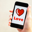 Stock Photo: Love message on mobile