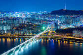 Seoul city at night — Stock Photo