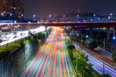 Seoul tarffic at night — Stock Photo
