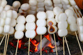 Japanese roasted rice dumpling called dango — Stock Photo