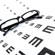 Eye chart and eyewear — Stock Photo #40572427