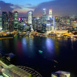 Singapore city from top — Stock Photo