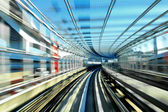 Fast train moving in day time — Stock Photo