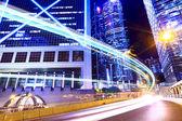 Traffic light in modern city — Stock Photo