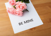 Pink rose for valentine day — Stock Photo