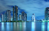 Tokyo residential district at night — Stock Photo