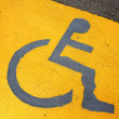 Stock Photo: Signage for disable person