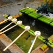 Stock Photo: Bamboo ladle in Japtemple