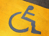 Signage for disable person — Stock Photo