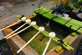 Bamboo ladle in Japan temple — Zdjęcie stockowe