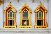 Window in Thailand temple — Stock Photo