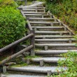 Wooden stair to mountian — Stock Photo