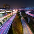 Stock Photo: Seoul highway at night