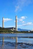 Coal plant and sea — Stock Photo