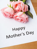 Happy mother day and rose — Stockfoto