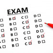 Stock Photo: Examination sheet