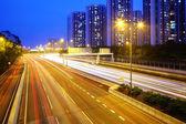 Highway in Hong Kong at night — Stock Photo