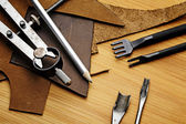 Leather craft equipment — Stockfoto