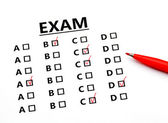 Examination sheet — Stock Photo