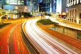 Hong Kong traffic at night — Stock Photo