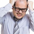 Stock Photo: Asibusinessmunder stress