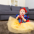 Baby with halloween party dressing — Stock Photo