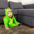 Baby with halloween party costume — Stock Photo