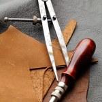 Handmade Leathercraft equipment — Stock Photo