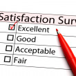图库照片: Satisfaction survey