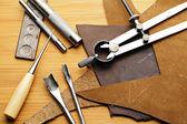 Handmade Lethercraft tool — Stock Photo