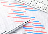 Project management with gantt chart — Stock Photo
