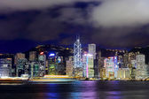 Hong Kong city at night — 图库照片