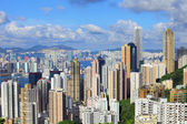 Hong Kong city from peak — Foto Stock