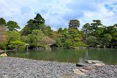 Japanese garden with sky — Stockfoto