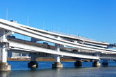 Freeway with sea in Tokyo — Stock Photo