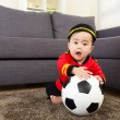 Stock Photo: Baby boy playing with soccer ball