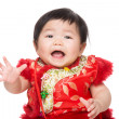 Stock Photo: Chinese baby girl feel surprise