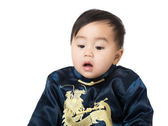 Baby with traditional chinese costume — Stock Photo