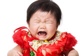 Chinese baby girl crying — Stock Photo