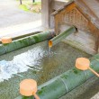 Stock Photo: Water purification in japanese temple