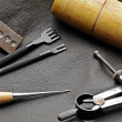 DIY leathercraft tool — Stock Photo