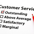 Stock Photo: Customer service performance appraisal