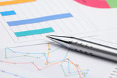 анализ бизнес-графики — Стоковое фото