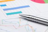Análise de gráficos de negócios — Foto Stock