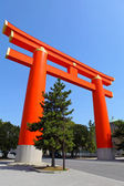 Torii with blue sky in Kyoto — Stock Photo