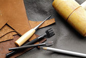 Leathercraft equipment — Stockfoto