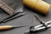 DIY leathercraft tool — Stock Photo